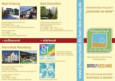 Innovations Projekt Gesund in NRW Flyer